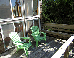 Piper Green cottage sun deck